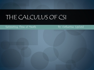 The Calculus of CSI