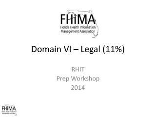 Domain  V I  – Legal  (11%)