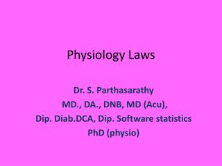 Physiology Laws