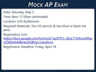 Mock AP Exam