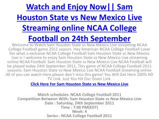 watch and enjoy now|| sam houston state vs new mexico live