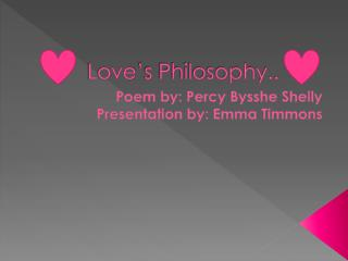Love's Philosophy..