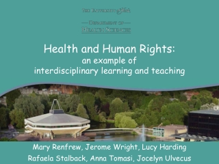 Health and Human Rights: an example of  interdisciplinary learning and teaching
