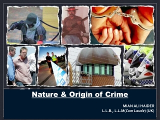 Nature & Origin of Crime  MIAN ALI HAIDER L.L.B., L.L.M( Cum Laude ) (UK)