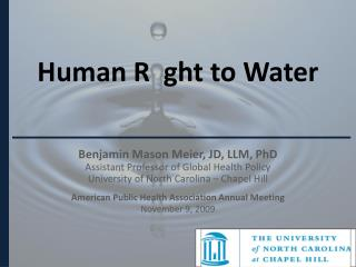 Human R   ght  to Water