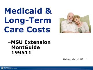 Medicaid & Long-Term Care Costs