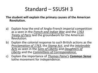 Standard – SSUSH 3