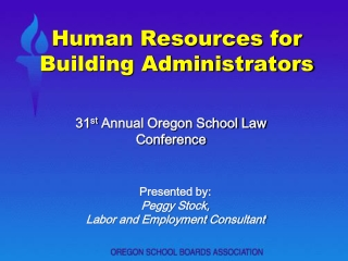 Human Resources for Building Administrators