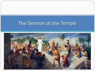 The Sermon at the Temple