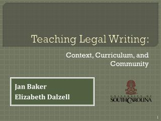 Teaching Legal  Writing :