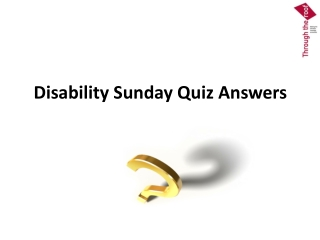 Disability Sunday Quiz Answers