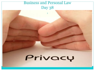 Business and Personal Law Day 38
