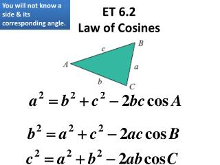 ET 6.2 Law of Cosines