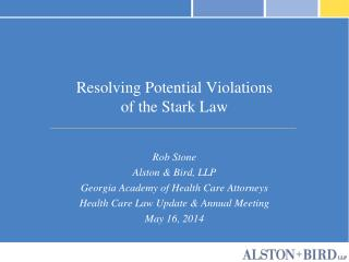 Resolving Potential Violations of the Stark Law