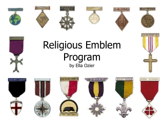 Religious Emblem Program by Ella Ozier