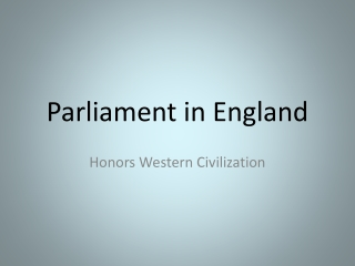Parliament in England