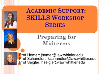 Academic Support:  SKILLS Workshop Series