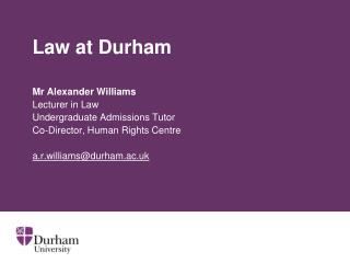 Law at Durham