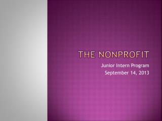 The Nonprofit