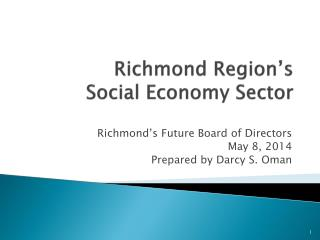 Richmond Region's  Social Economy Sector