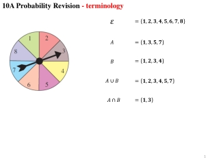 10A Probability Revision  - terminology
