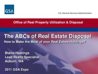 The ABCs of Real Estate  Disposal How  to Make the Most of your Real Estate Holdings?