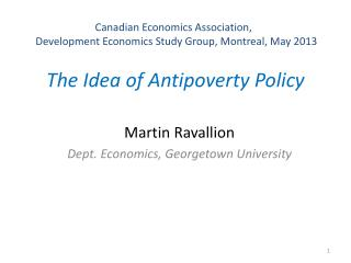 The Idea of Antipoverty Policy