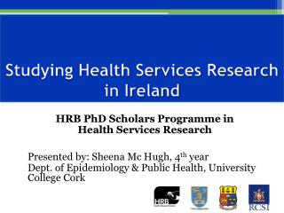 Studying Health Services Research in Ireland