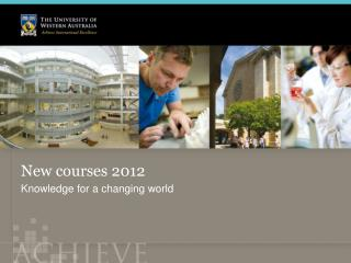 New courses 2012