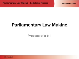 Parliamentary Law Making