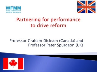 Partnering for performance to drive reform