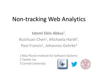 Non-tracking Web Analytics