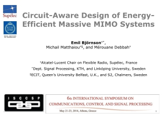 Circuit-Aware Design of Energy-Efficient Massive MIMO Systems