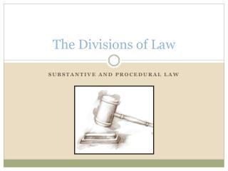 The Divisions  of Law