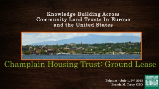 Champlain Housing Trust: Ground Lease