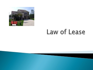 Law of Lease