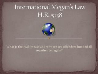 International Megan's Law  H.R. 5138