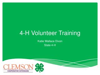 4-H Volunteer Training