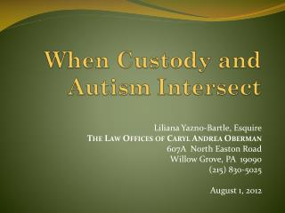 When Custody and Autism Intersect