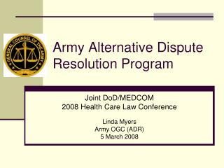 Army Alternative Dispute Resolution Program