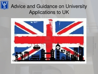 Advice and Guidance on University Applications to UK