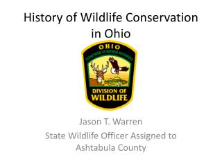 History of Wildlife Conservation  in Ohio