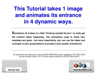 this tutorial takes 1 image and animates its entrance in 4 ...