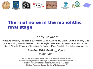 Thermal noise in the monolithic final stage