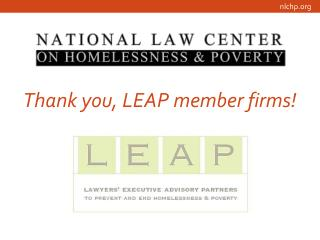 Thank you, LEAP member firms!