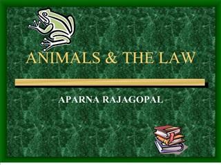 animals  the law