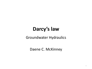 Darcy's law
