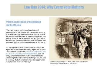 Law Day 2014: Why Every Vote Matters