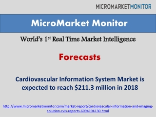 Cardiovascular Information System Market by 2018