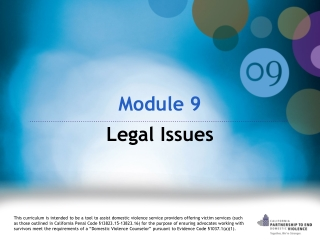 Module 9  Legal Issues